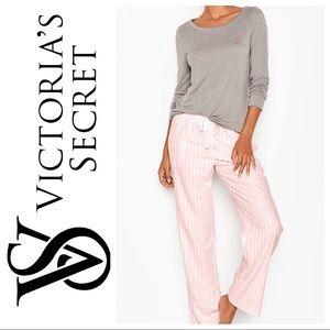 Victoria's Secret The Lounge PJ Pink VS Stripe Set